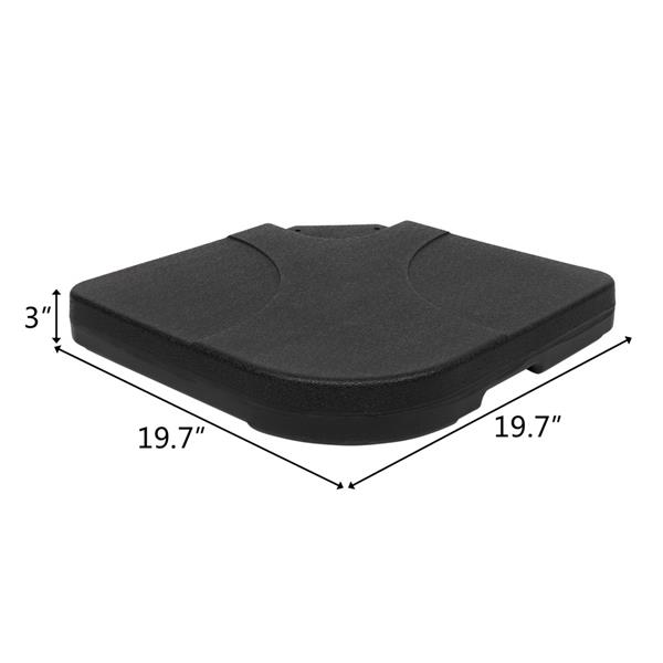 "20"" Square 4 Pieces Plastic Water Injection Base Parasol Base"