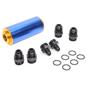 Fuel Filter 100 Micron  6AN/8AN/10AN Three Pairs Of Interfaces 106mm*50mm Blu