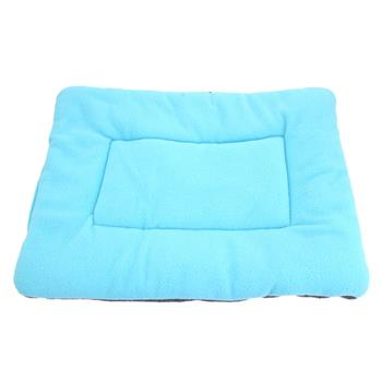 Washable Soft Comfortable Silk Wadding Bed Pad Mat Cushion for Dog Cat Pet Light Blue Size L