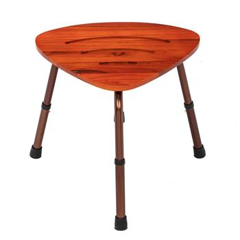 6-Hole Adjustable Wooden Bath Chair Natural Wood Color
