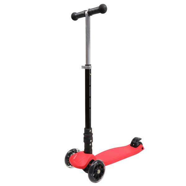 Foldable Three Wheel Scooter Red