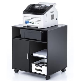 Printer Stand with Storage Office Cabinet, Wooden Under Desk Cabinet with Wheels