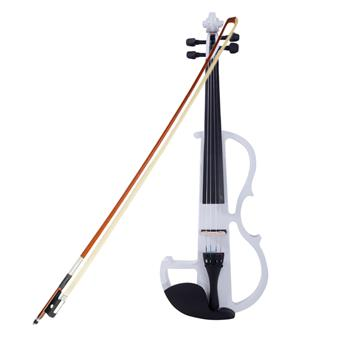 High-grade 8 Pattern Electroacoustic Violin Kit (Case   Bow   Rosin) White