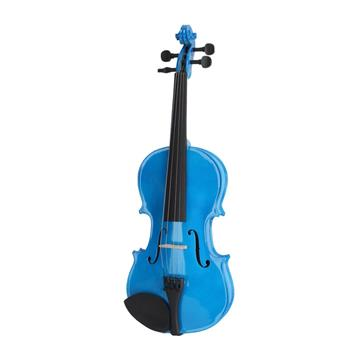 New 4/4 Acoustic Violin Case Bow Rosin Dark Blue
