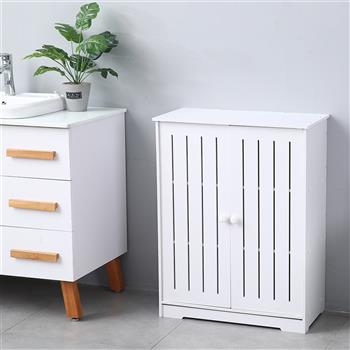 Double Door Three-Layer 80cm High Storage Cabinet PVC (63x31x80)cm