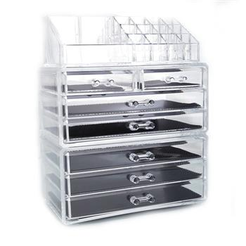 SF-1122-1 Cosmetics Storage Rack with 2 Small & 5 Large Drawers Transparent
