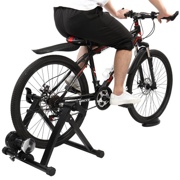 Fixed Reluctance Bicycle Riding Platform Black (Including Front Wheel Pad and Quick Release Lever) HS-QX-004A