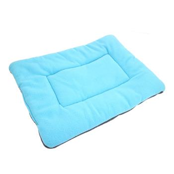 Washable Soft Comfortable Silk Wadding Bed Pad Mat Cushion for Dog Cat Pet Light Blue Size XL