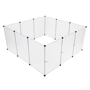 """Pet Playpen, Portable Large Plastic Yard Fence Small Animals, Puppy Kennel Crate Fence Tent, Large Size 28"""" x 20"""""""