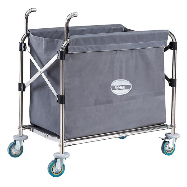 Commercial Collapsible X-Cart, Stainles Steel, 8 Bushel Cart, 330LB 35*5*31.5 inches, Grey