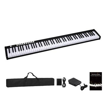 GPP-101 88 Keys Digital Home Piano Built-In Dual Speakers, Built-In Rechargeable Battery , Bluetooth , USB Out Or Midi Out, Piano Bag For Beginners Gift Black