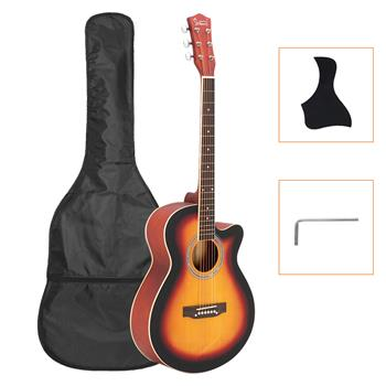 Glarry GT501 40 inch Spruce Front Cutaway Folk Guitar with Bag & Board & Wrench Tool Gradient Sunset(Do Not Sell on Amazon)