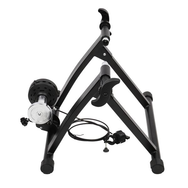 Fixed Wire-Controlled Reluctance Bicycle Riding Platform 6-Speed Black (Including Front Wheel Pad And Quick Release Lever)