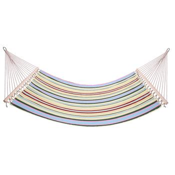 Stylish Printing Style Hammock Beach Swing Double Beds for Outdoor Camping Travel Beige