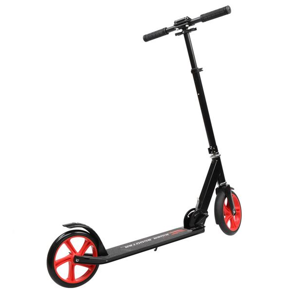 Foldable Three-wheel Scooter Black Red