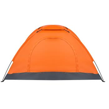 1-Person Waterproof Camping Dome Tent Automatic Pop Up Quick Shelter Outdoor Hiking Orange