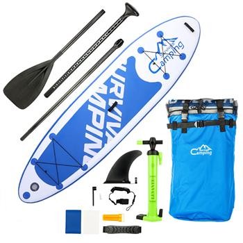 """KS-SP1007 10'10"""" Adult Inflatable SUP Stand Up Paddle Board White & Dark Blue & Black"""