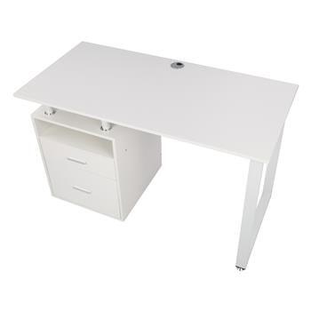 FCH Pipe Rack Two Drawers Computer Desk White