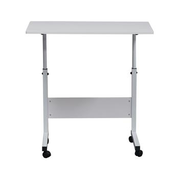 Removable P2 15MM Chipboard & Steel Side Table with Baffle White