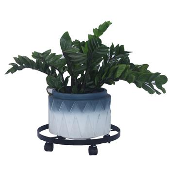 """14"""" Metal Plant Caddy Heavy Duty Iron Potted Plant Stand with Wheels"""