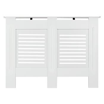 MDF Wood Radiator Cover Board Stripe Pattern White Painted M