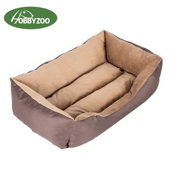 "[HOBBYZOO] 28"" Large Size Pet Bed Dog Mat Cat Pad Soft PP Cotton Brown"