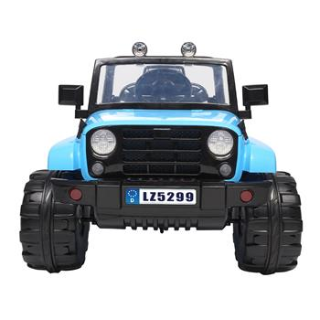 LEADZM LZ-5299 Small Jeep Dual Drive Battery 12V7Ah * 1 with 2.4G Remote Control Blue