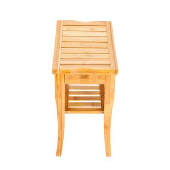 47.5x26x44.5cm Bamboo Bath Stool Sandal Wood Color