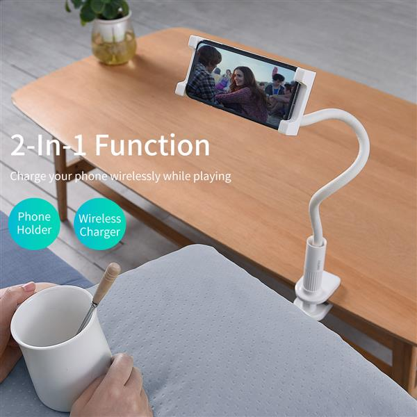 Ban on Amazon platform salesSmartphone Stand qi Wireless Charger 10W/7.5W Flexible Arm Smartphone Arm Stand While Sleeping Reinforced Root 360-degree rotation Compatible with 4.7