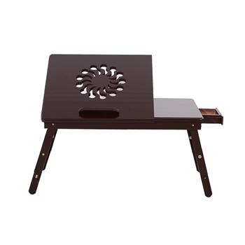 53cm Fashionable Sunflower Engraving Pattern Adjustable Bamboo Computer Desk Coffee