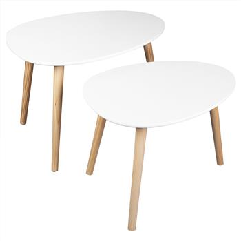FCH Side Table Two-Piece Desktop Triamine Xsg-068 White Wood