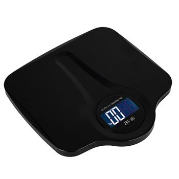 SF-187 High Accuracy 180kg/396LB Plastic Platform Electronic Digital Body Scale Black