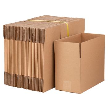 "100 Corrugated Paper Boxes 8x6x4""(20.3*15.2*10cm)Yellow"
