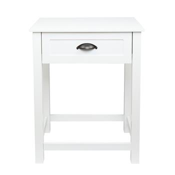 FCH 1-Drawer Nightstand End Table White