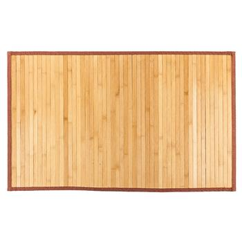"21""*34"" Non-sliding Waterproof Bamboo Floor Mat Natural"