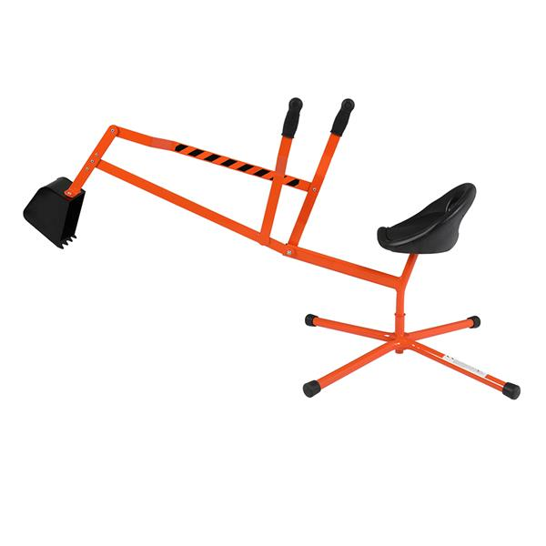 Kids Sand Digger Ride On With 360°Rotatable Seat And Metal Base, Outdoor Ride On Excavator Toy For Kids  Orange