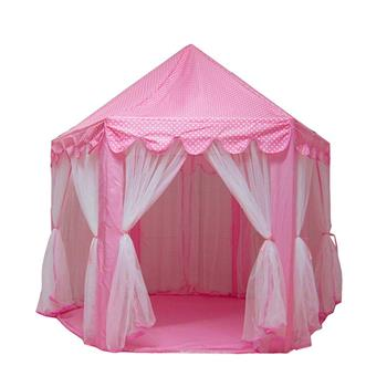 Princess Castle Play House Large Outdoor Kids Play Tent for Girls Pink