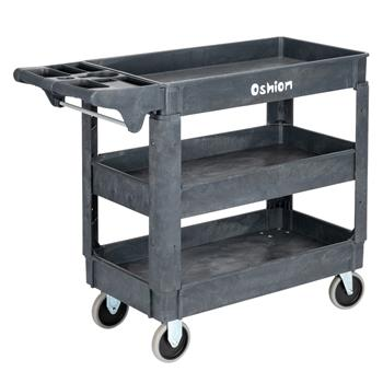 Oshion SC253-S3 Small Three-Layer Plastic Trolley