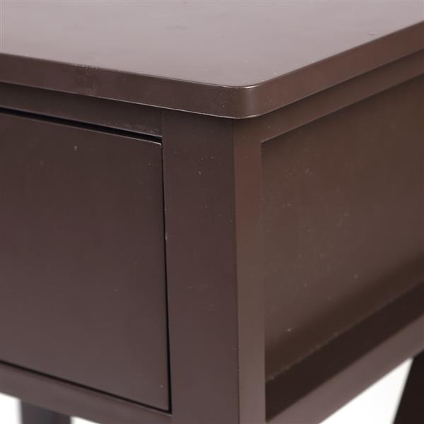 Brown Spray Paint Cross Type Single Suction Double Layer Nightstand