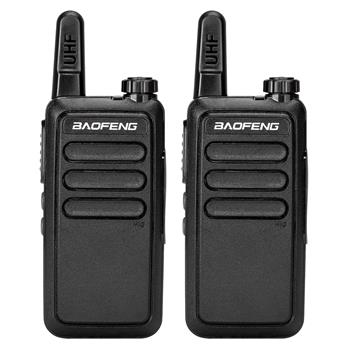 2pcs Baofeng BF-R5 FRS Walkie Talkie UHF 400-470Mhz Two Way Radio USB Charge(Do Not Sell on Amazon)