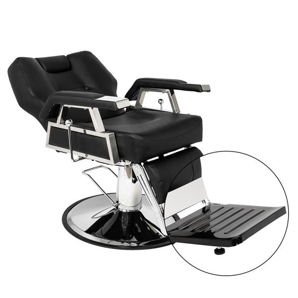 PVC leather case Stainless steel base Iron footrest Disc with footrest 150kg Black HZ-8706 Barber chair