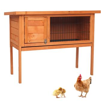 "36"" Single Deck Waterproof Wooden Chicken Coop Hen House Pet Animal Poultry Cage Rabbit Hutch Natura"