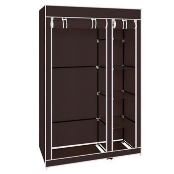 """67"""" Portable Clothes Closet Wardrobe with Non-woven Fabric and Hanging Rod Quick and Easy to Assemble Dark Brown"""