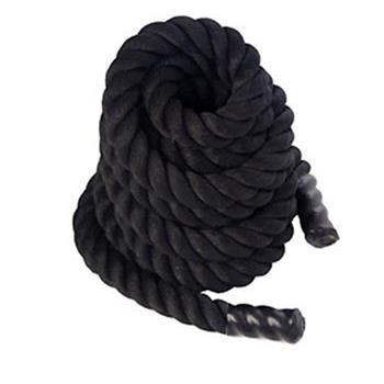 "1.5"" x 40ft Professional Lightweight Fitness Rope Black"