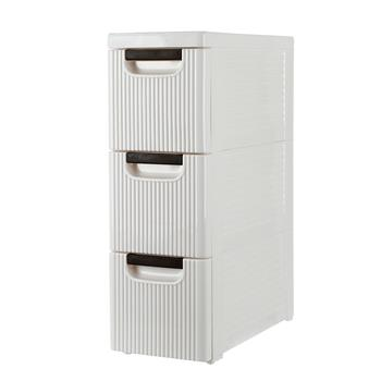 3-Tire Rolling Cart Organizer Unit with Wheels Narrow Slim Container Storage Cabinet for Bathroom Bedroom