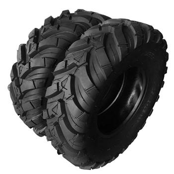 25x10-12 black Fits ATV millionparts 8.5inch rubber pair of Tubeless Tires