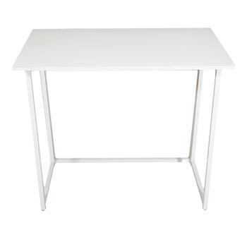 Simple Collapsible Computer Desk White