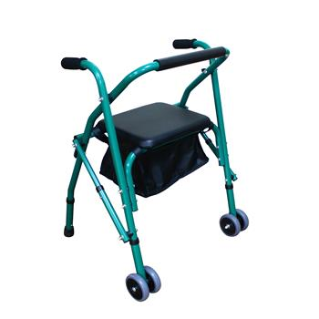 With Seat Iron Pipe Walker 4201 Green