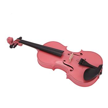 New 1/8 Acoustic Violin Case Bow Rosin Pink