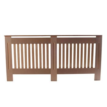 Simple Traditional Design Ventilated E1 MDF Board Vertical Stripe Pattern Radiator Cover Wood Color XL